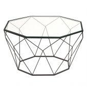 Bàn trà kim cương mặt kính cho sofa mã 14