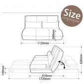 Kích thước mẫu ghế sofa ngồi bệt kiểu nhật bọc vải nỉ mã 16