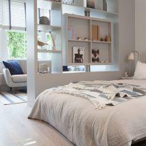 Vách ngăn gỗ trang trí phòng ngủ