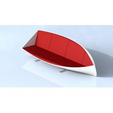 Ghế sofa thuyền đệm vải nỉ độc đáo chân inox mã 100
