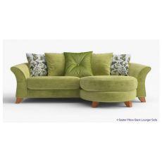 Sofa góc nhỏ giá rẻ chữ l màu xanh ngọc mã 13