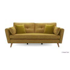 Sofa vải nỉ nhỏ 4 chỗ cho phòng khách mã 10