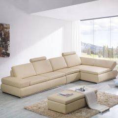 Bộ ghế sofa da màu trắng đẹp mã 05