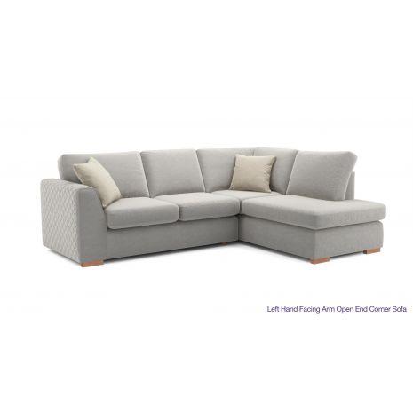 Sofa vải nỉ chữ l góc trái chân gỗ mã 09