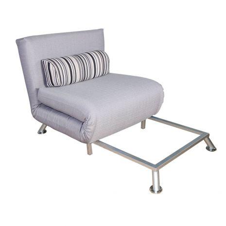 Ghế đơn sofa gấp đa năng thành giường chân inox mã 16-1