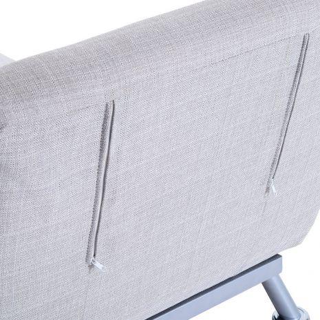 Ghế đơn sofa gấp đa năng thành giường chân inox mã 16-6
