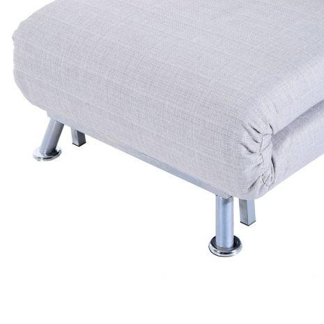 Ghế đơn sofa gấp đa năng thành giường chân inox mã 16-7