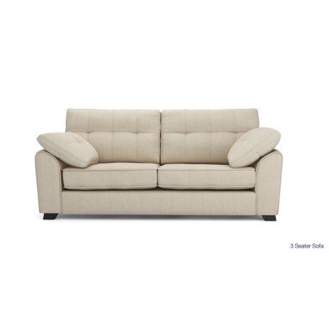 Sofa văng vải nỉ bố 3 chỗ chân gỗ tự nhiên mã 11