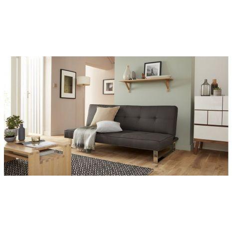 Sofa bed(giường) bọc vải nỉ chân inox mã 24