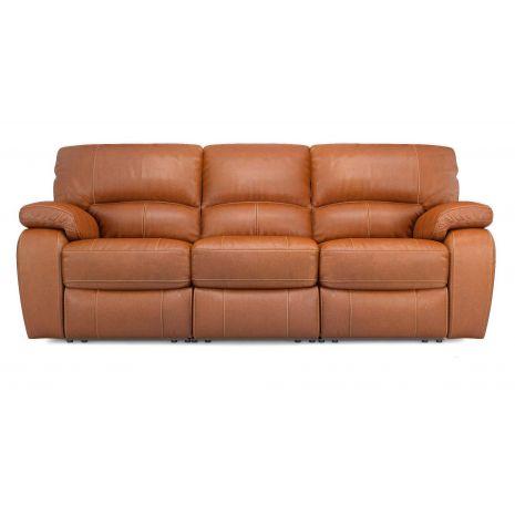 Sofa văng da 3 chỗ với nâng chân cơ mã 08