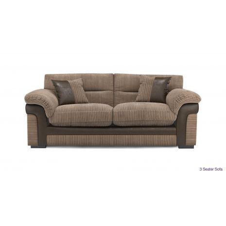Sofa  văng vải nỉ thô 3 chỗ màu nâu mã 12