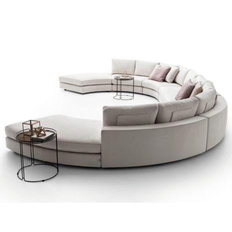 Ghế sofa cong(curved) chữ C tháo rời lắp ghép mã 110